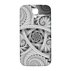 Fractal Wallpaper Black N White Chaos Samsung Galaxy S4 I9500/i9505  Hardshell Back Case by Jojostore
