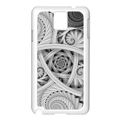 Fractal Wallpaper Black N White Chaos Samsung Galaxy Note 3 N9005 Case (white) by Jojostore