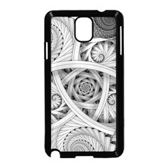 Fractal Wallpaper Black N White Chaos Samsung Galaxy Note 3 Neo Hardshell Case (black) by Jojostore