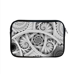 Fractal Wallpaper Black N White Chaos Apple Macbook Pro 15  Zipper Case