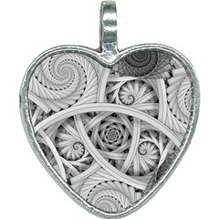Fractal Wallpaper Black N White Chaos Heart Necklace