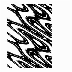 Black And White Wave Abstract Small Garden Flag (two Sides)