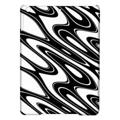 Black And White Wave Abstract Ipad Air Hardshell Cases by Jojostore