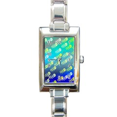Animal Nature Cartoon Wild Wildlife Wild Life Rectangle Italian Charm Watch by Jojostore