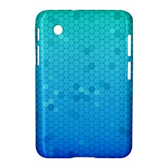 Blue Seamless Black Hexagon Pattern Samsung Galaxy Tab 2 (7 ) P3100 Hardshell Case