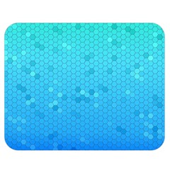 Blue Seamless Black Hexagon Pattern Double Sided Flano Blanket (medium)
