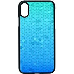 Blue Seamless Black Hexagon Pattern Apple Iphone X Seamless Case (black)