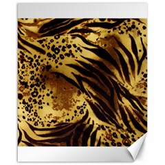 Stripes Tiger Pattern Safari Animal Print Canvas 16  X 20  by Jojostore