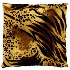 Stripes Tiger Pattern Safari Animal Print Large Cushion Case (two Sides) by Jojostore