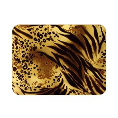 Stripes Tiger Pattern Safari Animal Print Double Sided Flano Blanket (mini)