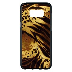 Stripes Tiger Pattern Safari Animal Print Samsung Galaxy S8 Plus Black Seamless Case