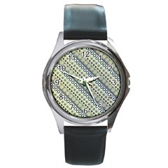 Abstract Seamless Pattern Round Metal Watch by Jojostore
