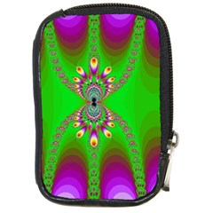 Green And Purple Fractal Compact Camera Leather Case