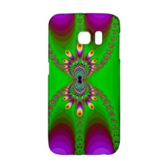 Green And Purple Fractal Samsung Galaxy S6 Edge Hardshell Case by Jojostore