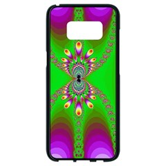 Green And Purple Fractal Samsung Galaxy S8 Black Seamless Case