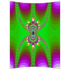 Green And Purple Fractal Back Support Cushion by Jojostore