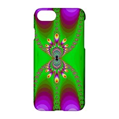 Green And Purple Fractal Apple Iphone 8 Hardshell Case