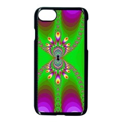 Green And Purple Fractal Apple Iphone 8 Seamless Case (black) by Jojostore