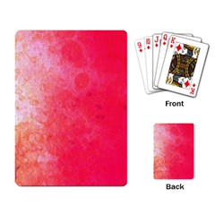 Abstract Red And Gold Ink Blot Gradient Playing Cards Single Design by Jojostore