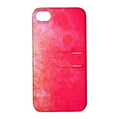 Abstract Red And Gold Ink Blot Gradient Apple Iphone 4/4s Hardshell Case With Stand by Jojostore
