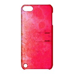 Abstract Red And Gold Ink Blot Gradient Apple Ipod Touch 5 Hardshell Case With Stand by Jojostore