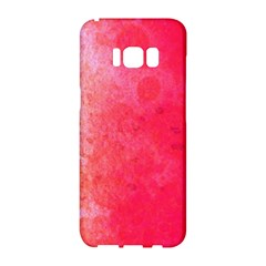 Abstract Red And Gold Ink Blot Gradient Samsung Galaxy S8 Hardshell Case  by Jojostore