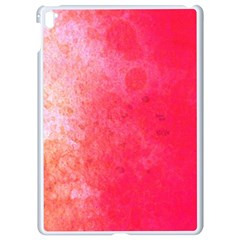 Abstract Red And Gold Ink Blot Gradient Apple Ipad Pro 9 7   White Seamless Case