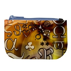 Symbols On Gradient Background Embossed Large Coin Purse