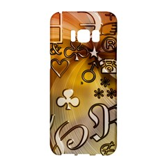 Symbols On Gradient Background Embossed Samsung Galaxy S8 Hardshell Case  by Jojostore