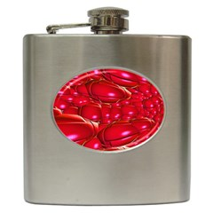 Red Abstract Cherry Balls Pattern Hip Flask (6 Oz) by Jojostore