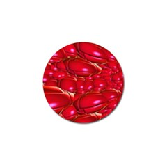 Red Abstract Cherry Balls Pattern Golf Ball Marker (4 Pack) by Jojostore