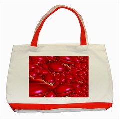 Red Abstract Cherry Balls Pattern Classic Tote Bag (red)