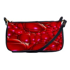 Red Abstract Cherry Balls Pattern Shoulder Clutch Bag