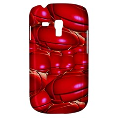 Red Abstract Cherry Balls Pattern Samsung Galaxy S3 Mini I8190 Hardshell Case by Jojostore