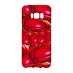 Red Abstract Cherry Balls Pattern Samsung Galaxy S8 Hardshell Case  by Jojostore