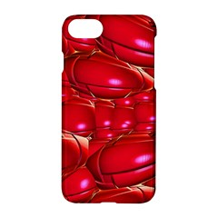 Red Abstract Cherry Balls Pattern Apple Iphone 8 Hardshell Case