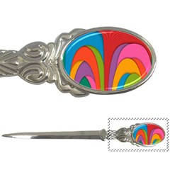 Modern Abstract Colorful Stripes Wallpaper Background Letter Opener