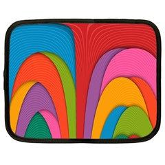 Modern Abstract Colorful Stripes Wallpaper Background Netbook Case (large)