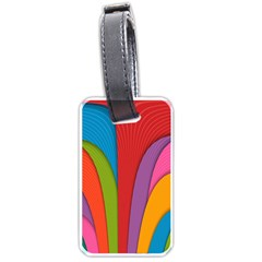 Modern Abstract Colorful Stripes Wallpaper Background Luggage Tags (two Sides)