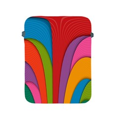 Modern Abstract Colorful Stripes Wallpaper Background Apple Ipad 2/3/4 Protective Soft Cases by Jojostore