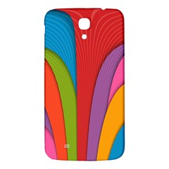 Modern Abstract Colorful Stripes Wallpaper Background Samsung Galaxy Mega I9200 Hardshell Back Case