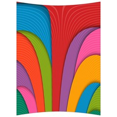 Modern Abstract Colorful Stripes Wallpaper Background Back Support Cushion
