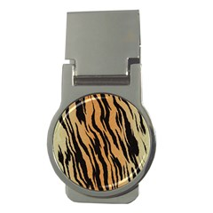 Tiger Animal Print A Completely Seamless Tile Able Background Design Pattern Money Clips (round)
