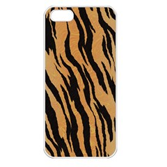 Tiger Animal Print A Completely Seamless Tile Able Background Design Pattern Apple Iphone 5 Seamless Case (white)