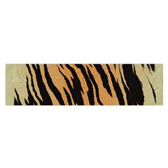 Tiger Animal Print A Completely Seamless Tile Able Background Design Pattern Satin Scarf (oblong)