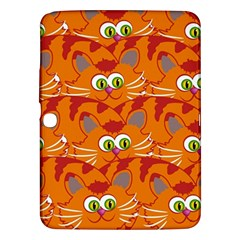 Animals Pet Cats Mammal Cartoon Samsung Galaxy Tab 3 (10 1 ) P5200 Hardshell Case