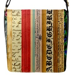 Digitally Created Collage Pattern Made Up Of Patterned Stripes Flap Closure Messenger Bag (s) by Jojostore