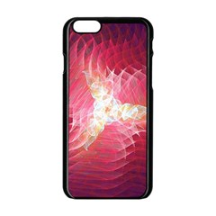 Fractal Red Sample Abstract Pattern Background Apple Iphone 6/6s Black Enamel Case by Jojostore