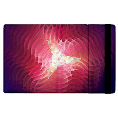 Fractal Red Sample Abstract Pattern Background Apple Ipad Pro 9 7   Flip Case