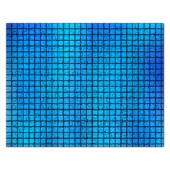 Seamless Blue Tiles Pattern Rectangular Jigsaw Puzzl by Jojostore